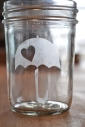 How to Make a Sweet Etched Mason Jar